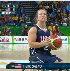 Shout out to Gail as she takes on Algeria tonight with the rest of Team USA's Wheelchair BBall team! @USParalympics