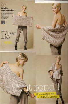 easy shrug ... knit, crochet or make of fleece or upcycled sweaters?