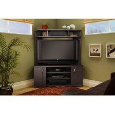 Flatscreen TV Stand Entertainment Console Television Shelf Corner Furniture Set  #Unbranded