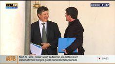 France. Mercredi 12 novembre 2014. Manuel Valls affiche son soutien à Jean-Pierre Jouyet sur le perron de l'Elysée - Le Lab Europe 1