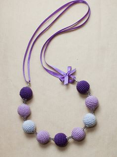 Crochet bead necklace