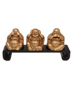See No Evil, Hear No Evil, Say No Evil Laughing Buddha Statues