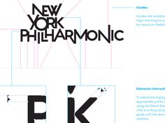 New York Philharmonic - MetaDesign - San Francisco. The dynamic arrangement of letters in the mark suggets not only the excitement of the concert experience but also the harmony of a large ensemble working together to achieve a singular effect.