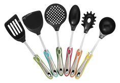Kitchen Utensils with Holder 7 Piece Cooking Utensil Set Stainless Steel Core  #KitchenUtensilswithHolder