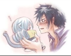 D'Awwwww so Kawaii! Fairy Tail Gruvia, Fairy Tail Gray, Fairy Tail Ships, Fairy Tail Anime, Jerza, Nalu, Fairytail, Fairy Tail Couples, Anime Couples