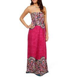 Magenta Paisley Maxi Dress