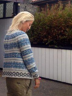 koftegruppa Something Blue, Knit Crochet, Men Sweater, Fair Isles, Pullover, Knitting, Knits, Hooks, Fabric