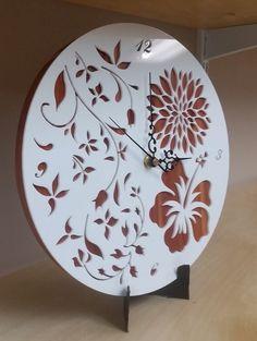 Laser Cut Acrylic Floral Clock                                                                                                                                                     More