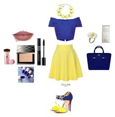 """""""blue sky, sunny day"""" by shushu13 ❤ liked on Polyvore featuring QNIGIRLS, Christian Louboutin, Saloni, Ruby Rocks, Christian Dior, Burberry and Too Faced Cosmetics"""