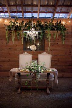 Sweetheart Table for Wedding Reception  Vinewood Plantation | Kristy & Josh's Neutral Autmn Wedding - Vinewood Plantation Newnan, GA