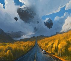 L'univers magique du digital painter RHADS – Webdesigner Trends Digital Painter, Digital Art, Digital Paintings, Watercolor Paintings, Fantasy Landscape, Landscape Art, Landscape Concept, Matte Painting, Fantastic Art