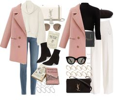 How to style a pink pea coat for France and London (requested) Pink Winter Coat, Winter Coat Outfits, Autumn Clothes, Winter Fashion Outfits, Fall Outfits, Casual Outfits, Winter Ootd, Peacoat Outfit, Pink Peacoat