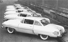 This is a Touring factory photo of six 1954 Hudson Italia autos, ready to ship…