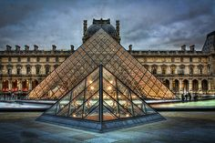 Louvre Pyramids by Steve Oldham. My favorite place to see in Paris! Besides the Eiffel Tower of course! Great Places, Places To See, Amazing Places, Louvre Pyramid, Louvre Paris, City Buildings, Places Around The World, Places To Travel, The Good Place