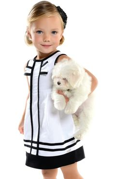 Never liked the preppy look until I had nieces and daughters of my own.some babies can pull it off and still look so sweet not bratty or too adult like Little Girl Fashion, My Little Girl, Little Girl Dresses, My Baby Girl, Toddler Fashion, Kids Fashion, Girls Dresses, Pink Girl, Cute Outfits For Kids