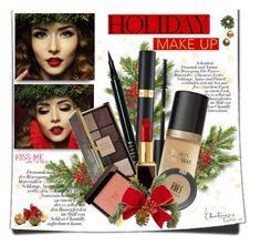 """""""Holiday makeup!!"""" by lilly-2711 ❤ liked on Polyvore featuring beauty, Tom Ford, Too Faced Cosmetics, Bobbi Brown Cosmetics, Ciaté, Topshop, makeup, redlips, TOMFORD and holidaymakeup"""