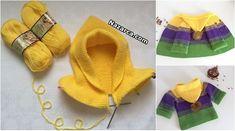 kapusonlu-3-yas-degrade-cocuk-hirka Baby Knitting Patterns, Knitting Stitches, Baby Patterns, Free Knitting, Hooded Cardigan, Baby Cardigan, Knitting Projects, Crochet Projects, Crochet Baby