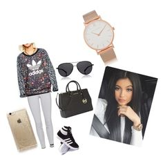 """Kylie Jenner"" by emmatraynor on Polyvore featuring adidas, Michael Kors, Rifle Paper Co, The Row and Larsson & Jennings"
