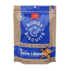 CLOUD STAR ORIGINAL SOFT AND CHEWY BUDDY BISCUIT 20-OUNCE BACON AND CHEESE - BD Luxe Dogs & Supplies - 1