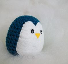 Crocheted penguin