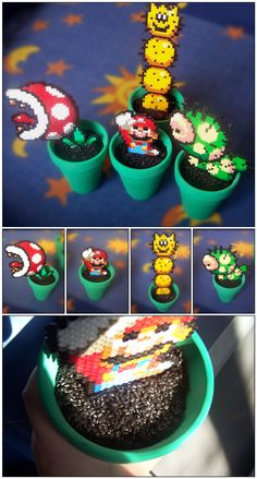 Mario Plants perler beads by Oggey-Boggey-Man on deviantART