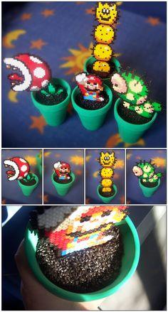 Level: medium // Mario & Luigi, aus Perlen, als lustige Pflanztöpfe // Gesehen bei: oggey-boggey-man.deviantart.com