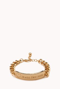 Love Is All You Need Bracelet | FOREVER21 All you need is love #VDay #ValentinesDay #Accessories