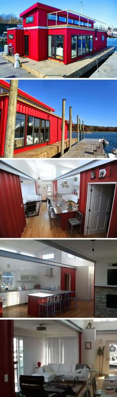 WHITE'S SHIPPING CONTAINER HOUSEBOAT #ContainerHomeDesigns