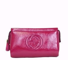 GUCCI Soho Tassel Patent Leather Cosmetic Case - Fuchsia #mariskelately #apparel #shopping #luxliving #luxuryshopping #onlinestore #beauty #bags #style #uniquestyle #fashion #fashionistas #lookfabulous #gucci  #ilovegucci #gucciforever #guccigirl Gucci Handbags, Cosmetic Case, Soho, Patent Leather, Tassel, Purses, Luxury, Shopping, Beauty