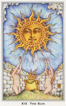Medieval Enchantment Tarot -- The Sun