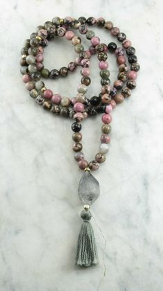 Apprentice_Mala_Beads_108_Rhodonite_Mala_Beads_Smoky_Quartz