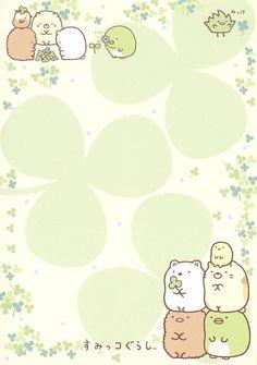 "San-X Sumikko Gurashi ""Outdoors"" Memo Kawaii Wallpaper, Cute Wallpaper Backgrounds, Cute Cartoon Wallpapers, Aztec Wallpaper, Iphone Backgrounds, Pink Wallpaper, Screen Wallpaper, Iphone Wallpapers, Memo Notepad"