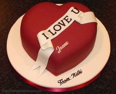 Decorative idea to decorate a Chocolate HEART Cake for a