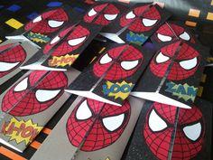 spiderman handmade birthday party invitations