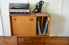 I can make this: Parker mid century vintage teak Sideboard Record storage 1960's
