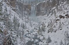 14.  After getting some runs in at the mountain, we would do a little showshoeing at Tumalo Falls.