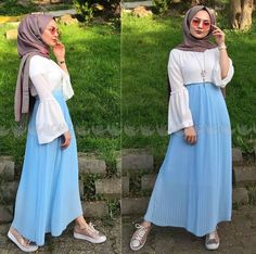 Hijab Casual, Hijab Style, Hijab Chic, Hijab Outfit, Hajib Fashion, Modest Fashion, Skirt Fashion, Fashion Outfits, Eid Outfits