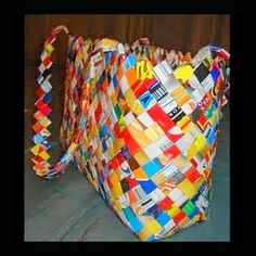 Dollar Store Crafter: Potato Chip Bag Purse
