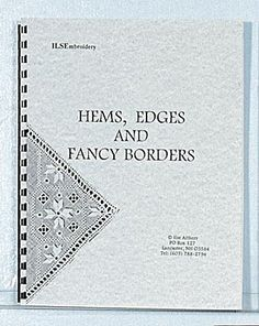 Clear, precise diagrams and instructions for classic hemstitching, hems with decorative drawn thread work, four-sided stitch, Italian hem stitchings, fringing in the round and pulled thread edges. Spiral bound.