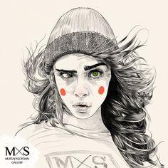 Cara Delevingne Illustrations by Mustafa Soydan