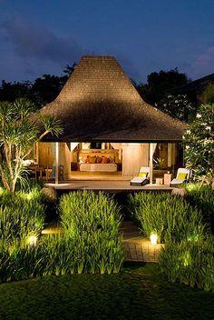 bedroom and garden - Khayangan Uluwatu