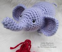 Teri Crews Designs: Free Little Elephant Crochet Pattern
