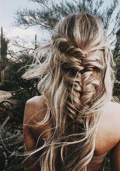 fishtail braids + bikinis