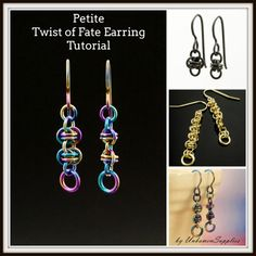 This Printed Petite Twist of Fate Chainmaille Earring Tutorial will show you how to make these great earrings! We rate this as perfect for a