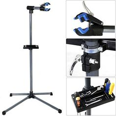 "Pro Bike Repair Stand Adjustable 39"" To 60\"" w/ Telescopic Arm Cycle Bicycle Rack *** Click image for more details."