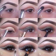 Stunning night cut crease makeup #tutorial #evatornadoblog Вечерний макияж