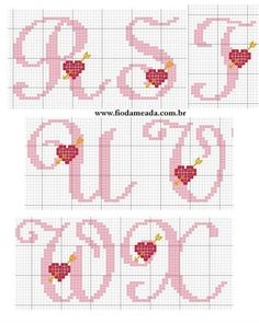 Thrilling Designing Your Own Cross Stitch Embroidery Patterns Ideas. Exhilarating Designing Your Own Cross Stitch Embroidery Patterns Ideas. Cross Stitch Alphabet Patterns, Embroidery Alphabet, Cross Stitch Letters, Cross Stitch Heart, Cross Stitch Designs, Embroidery Patterns, Stitch Patterns, Cross Stitching, Cross Stitch Embroidery