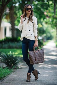 outfits-preppy-chic Casual Work Outfits, Work Attire, Mode Outfits, Work Casual, Fashion Outfits, Office Outfits, Casual Chic, Outfit Work, Dress Casual