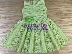 Just perfect!Vestido Crochet Niña 2 a 3 años par Handmade Baby Clothes, Crochet Baby Clothes, Crochet Girls, Crochet For Kids, Crochet Spring Dresses, Knit Baby Booties, Crochet Videos, Diy Dress, Girl Doll Clothes
