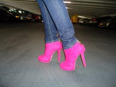 ANy pink heels and boot  will get you a lot ofattention